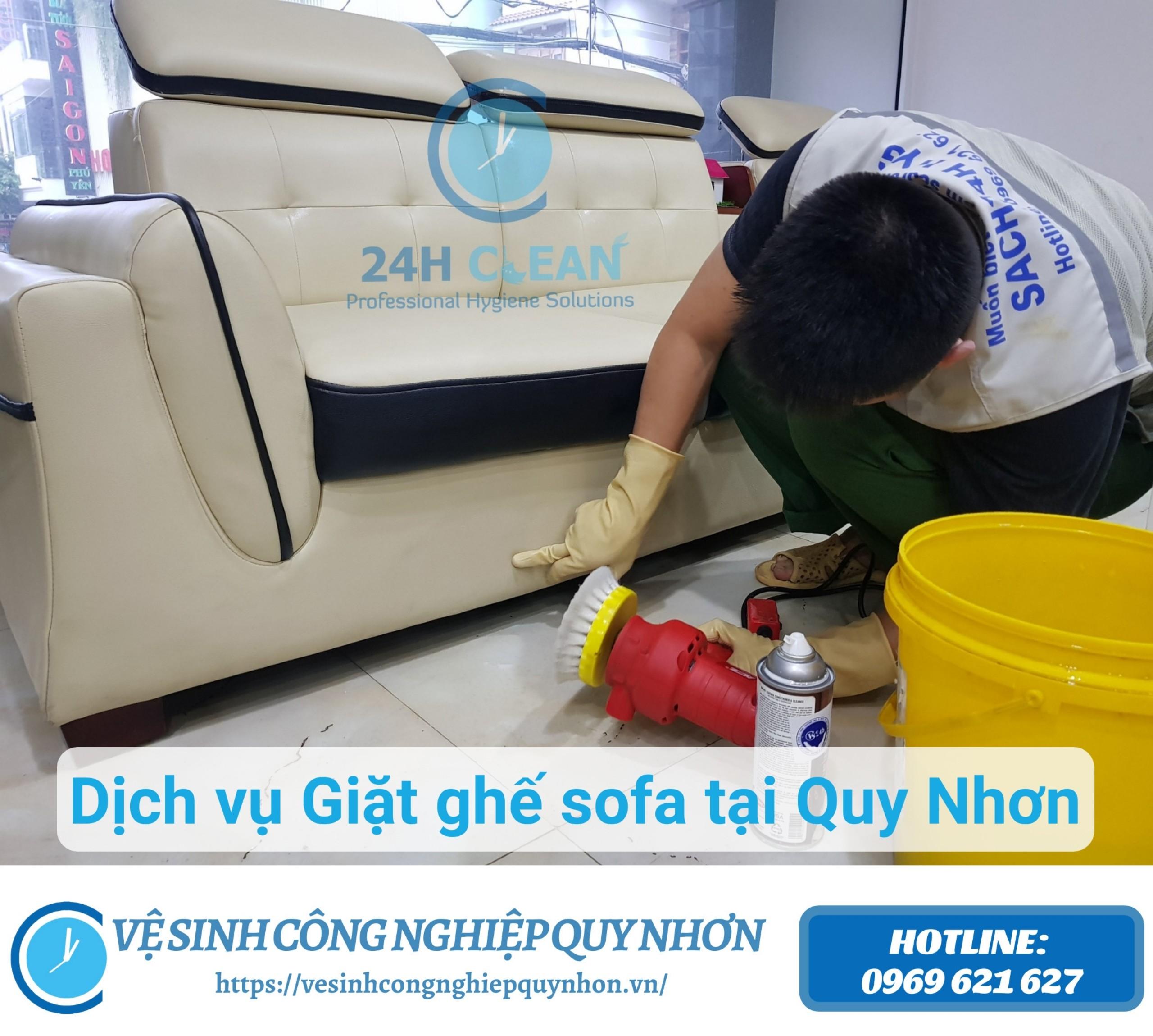 Dịch vụ giặt ghế sofa Quy Nhơn