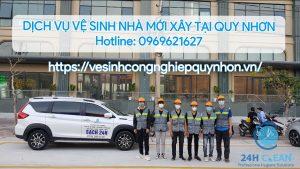 Dịch vụ vệ sinh nhà mới xây tại Quy Nhơn