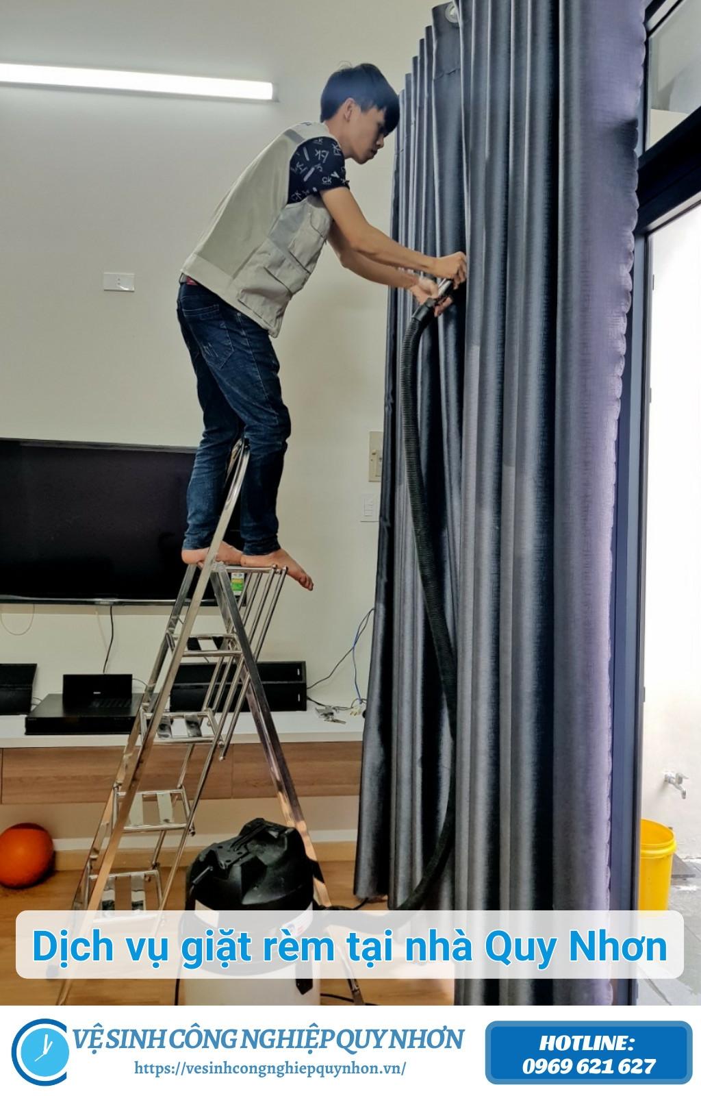 Dịch vụ giặt rèm tại nhà quy nhơn